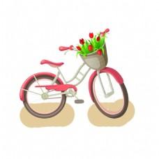 卡通自行车png元素