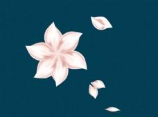 粉色花瓣ai源文件下载背景梦幻元素
