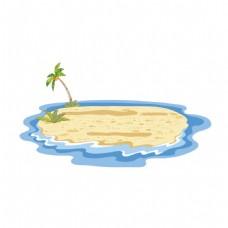 卡通大海沙滩元素