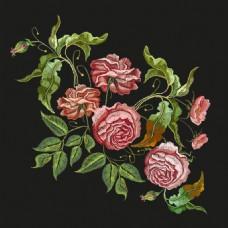刺绣玫瑰花图案