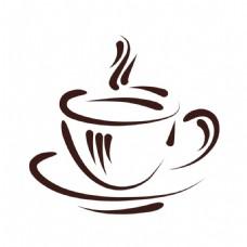手绘咖啡png元素