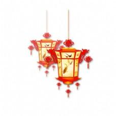 手绘中国风灯笼元素