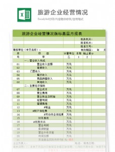 企业经营情况指标基层月报表excel模板