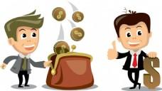 商业金融人物插画
