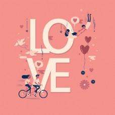 LOVE骑自行车女人