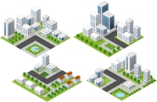 城市高楼建筑插画