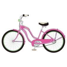 粉色自行车夏季小清新矢量素材
