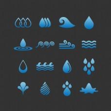 蓝色水滴创意标志