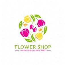 创意时尚鲜花标志