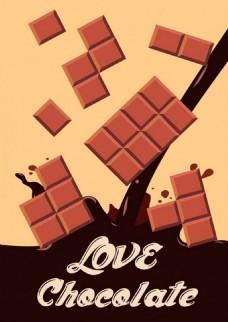 咖啡巧克力矢量背景
