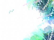 蓝色时尚花纹背景