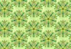 绿色万花筒抽象花纹背景