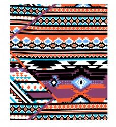 复古民族风布料图案矢量设计素材