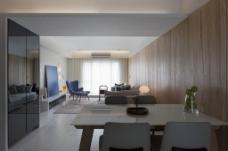 客厅木质背景墙效果图