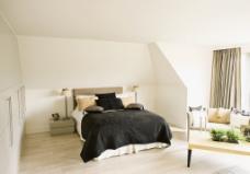 简约白色卧室效果图图片