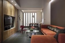 北欧现代客厅背景墙效果图