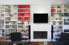 现代风格家装设计客厅书桌效果图图片
