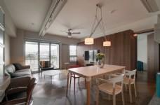 简欧客厅木质背景墙效果图
