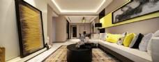 美式简约客厅背景墙效果图