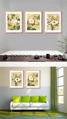 高清中国风花卉无框画