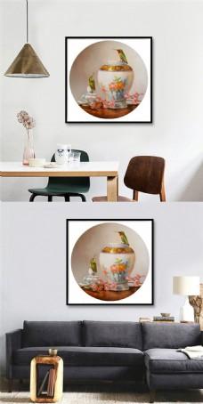 时尚古典花瓶装饰画