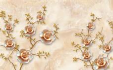 大理石浮雕花背景墙