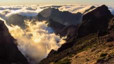 烟雾山脉风景视频