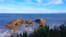 岛屿石头风景海水视频