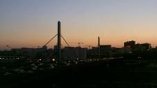 城市日出风景视频