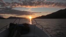 船只夕阳视频素材