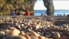 鹅卵石沙滩视频素材设计
