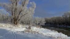 风景雪景视频素材