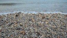 海滩小的鹅卵石视频