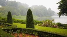 实拍豪宅花园风景