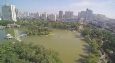 公园航拍视频素材