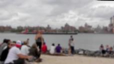 海滩人物视频素材设计