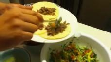 实拍人物做菜视频