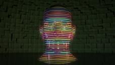 抽象人物面部视频素材
