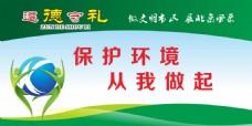 保护环境展板
