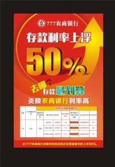 银行利率上升海报