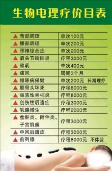 生物电理疗价目表