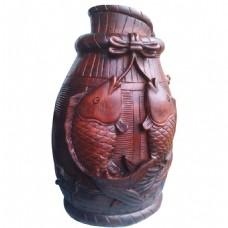 复古花瓶png元素