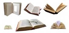 6种打开的书本