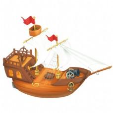 卡通小船png元素