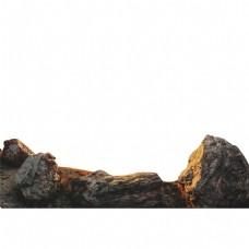 岩石假山风景元素