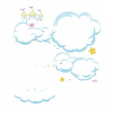 卡通白云png元素