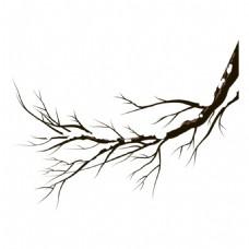 手绘复古树杆元素