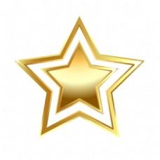 金色五角星png元素