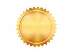 金色花纹图标元素