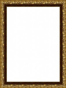 金色花纹边框元素